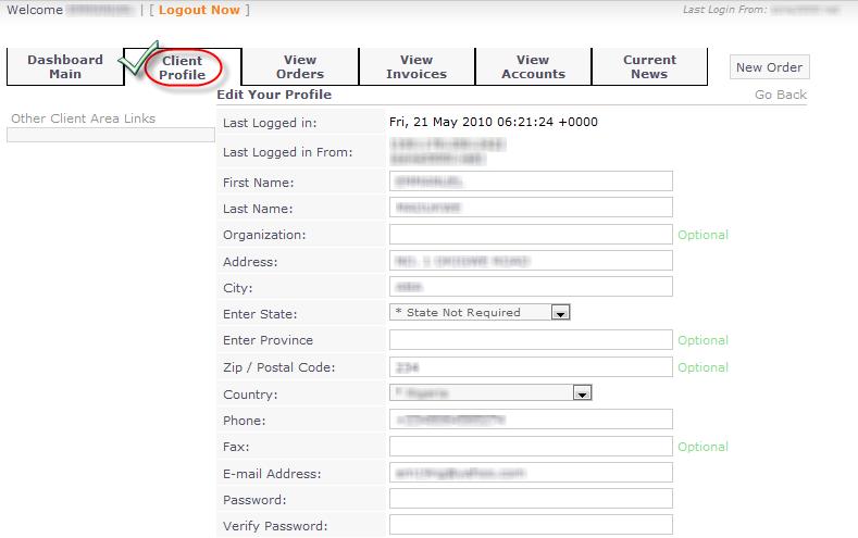 Updating Client Details in AutoPilot