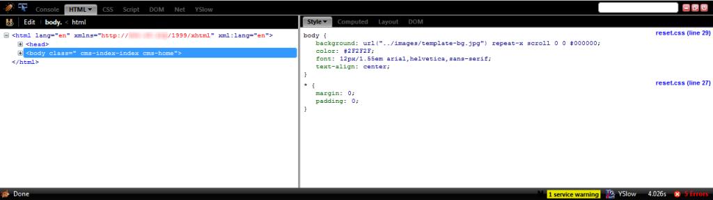 FireBug Addon HTML Tab