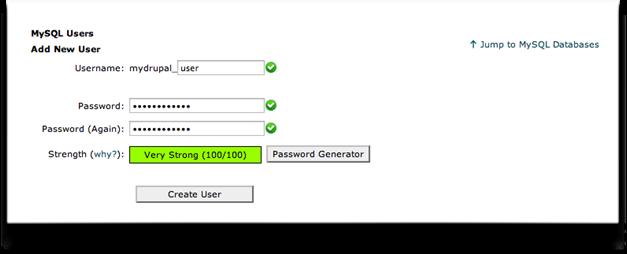 New database user