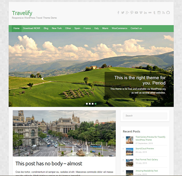 theme travelify