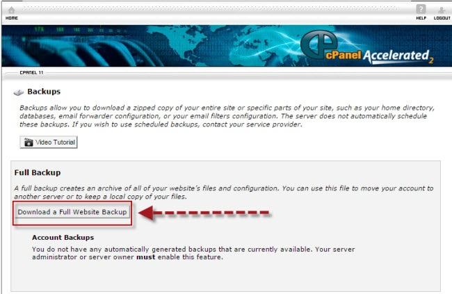 cPanel to cPanel account transfer from another hosting